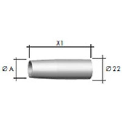 Газ. сопло коническое D18,0/69,0 (1 уп. - 5 шт.)