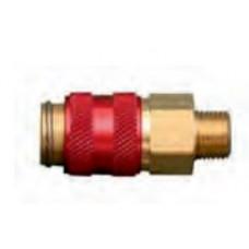 Быстроразъёмное соединение NW5  G1/8 AG красное