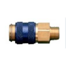 Быстроразъёмное соединение NW5  G1/8 AG синее